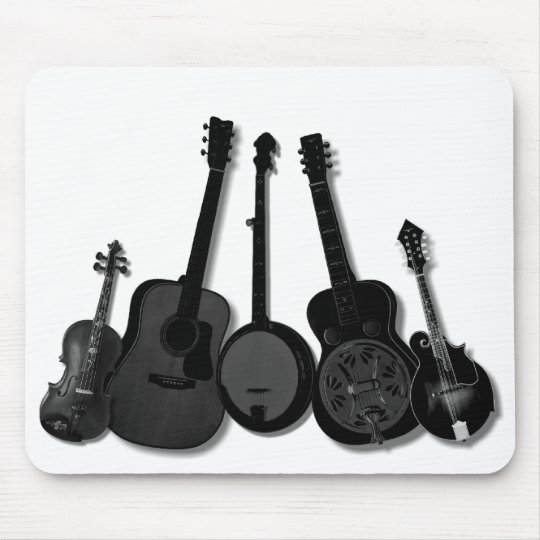 FIVE PIECE BAND ON WHITE-MOUSEPAD MOUSE MAT
