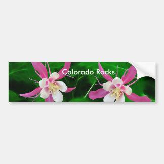 Five Pink Columbine flowers Bumper Sticker
