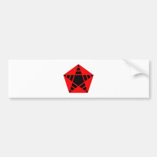 five-pointed star pentagram five pointed star bumper sticker
