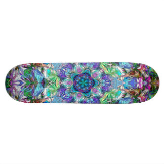 Five Points of Color Abstract 21.6 Cm Skateboard Deck