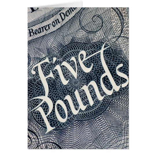 Five Pounds Card
