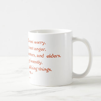 Five Precepts of Reiki: Words to Live By Coffee Mug