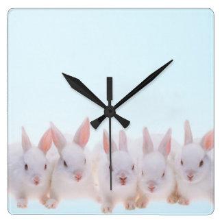 Five Rabbits Wall Clocks