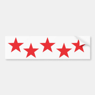 five red stars in bow icon bumper stickers