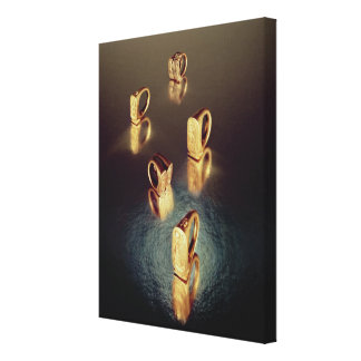 Five rings, from the Tomb of Tutankhamun Canvas Print