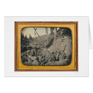 Five riverbed miners 40064 greeting cards
