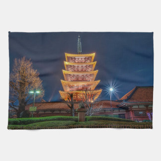 Five-Roof Pagoda at the Asakusa Temple, Tokyo Tea Towel