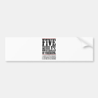 five rules of freeskiing bumper stickers
