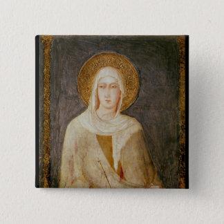 Five Saints, detail of St. Clare 15 Cm Square Badge