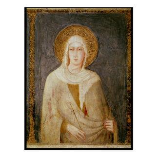 Five Saints, detail of St. Clare Postcard