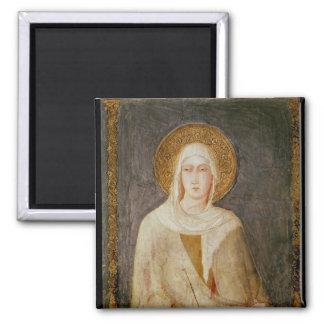 Five Saints, detail of St. Clare Square Magnet
