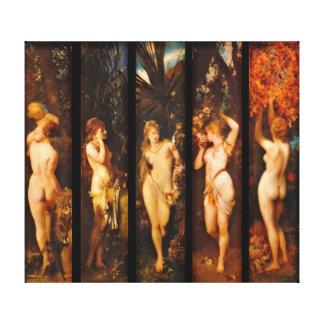Five Senses 1872 Canvas Prints