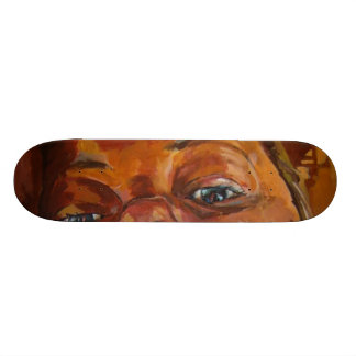 five skateboard deck