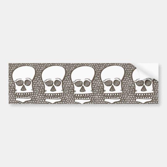 Five skulls bumper sticker