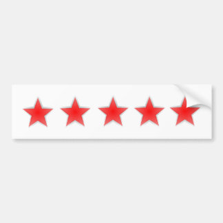 Five Star Bumper Sticker white