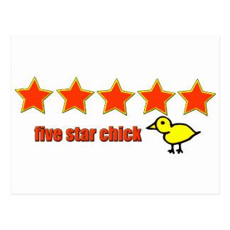 Five Star Chick Postcard