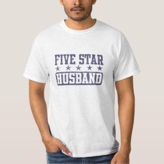Five Star Husband T-Shirt