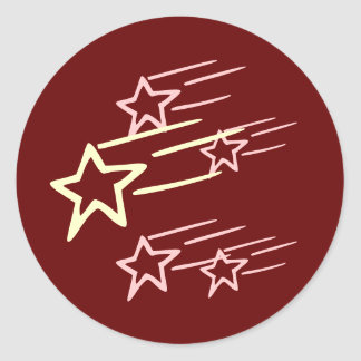 FIVE STAR ...  Share with FRIENDS Round Stickers