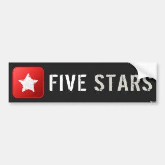 Five Stars Car Bumper Sticker