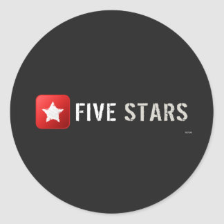 Five Stars Classic Round Sticker
