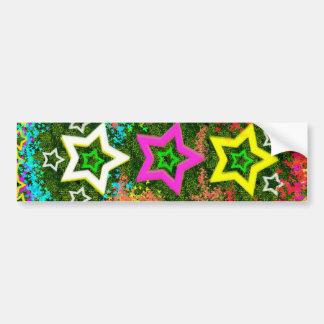 Five Stars Colorful Bumper Stickers