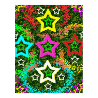 Five Stars Colorful Post Card