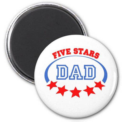Five starts dad magnets