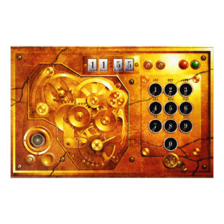 Five ton of 12 Steampunk clock Grunge Personalized Flyer