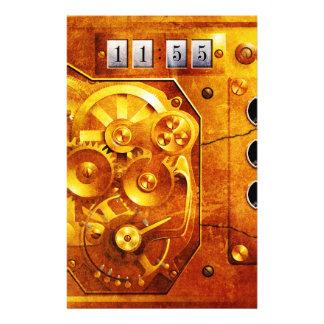 Five ton of 12 Steampunk clock Grunge Flyer