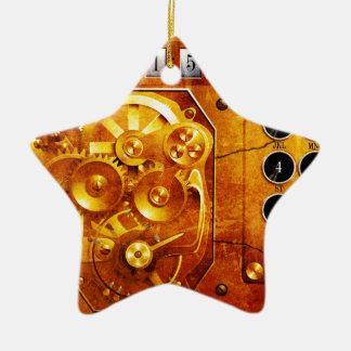 Five ton of OF 12 Steampunk clock Grunge Ceramic Star Decoration