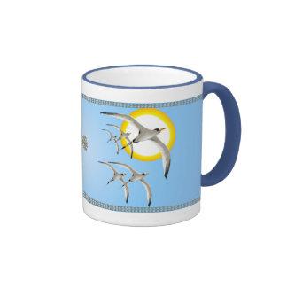 Five Tropic Birds and Sun Magnet Mug