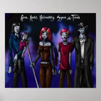 Five Vampires print