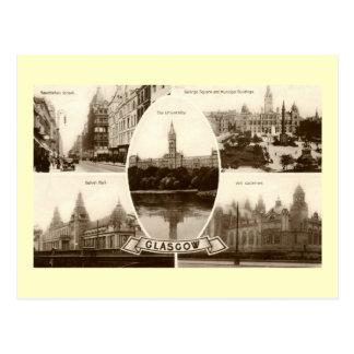 Five Views of Glasgow Scotland Vintage Postcards