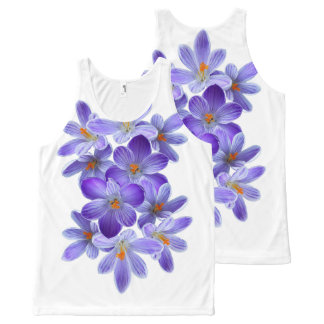 Five violet crocuses 05.10, spring greetings All-Over print tank top