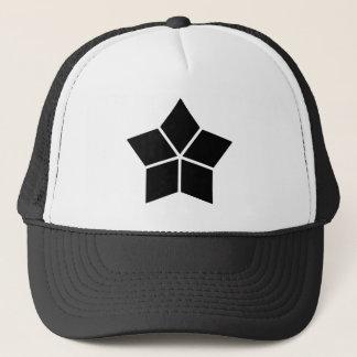Five water caltrops (ten percentage drawing) trucker hat