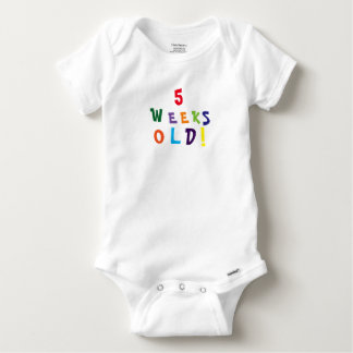 Five weeks old cute baby one piece t shirt