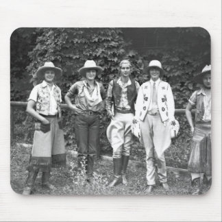 Five women at the dude ranch mouse mat