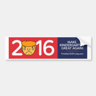 Five Year Old Trump Bumper Sticker