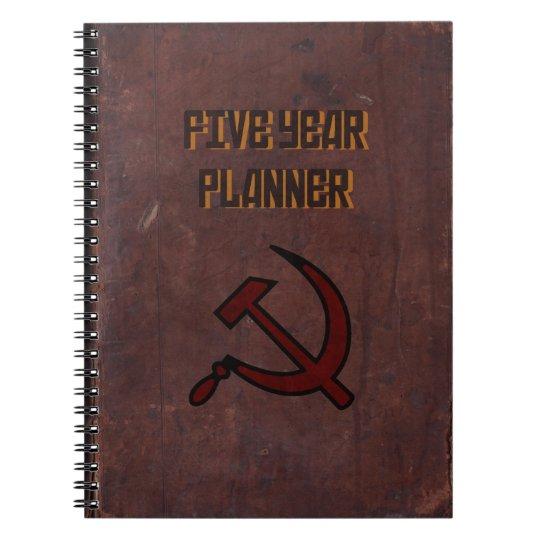 Five Year Planner Spiral Notebook