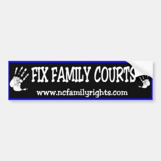 Fix Family Courts Bumper Sticker