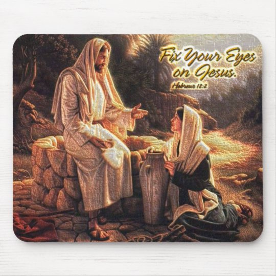 Fix Your Eyes on Jesus 1 Mouse Mat