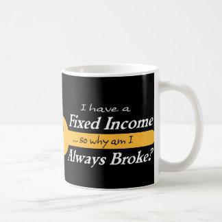 Fixed Income/Always Broke Mug - Gold