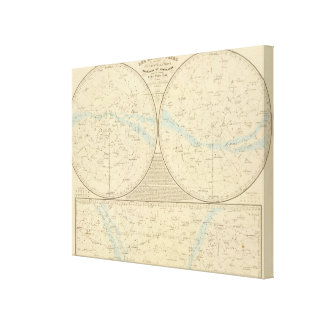 Fixed Stars map Gallery Wrapped Canvas