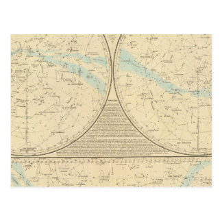 Fixed Stars map Postcard