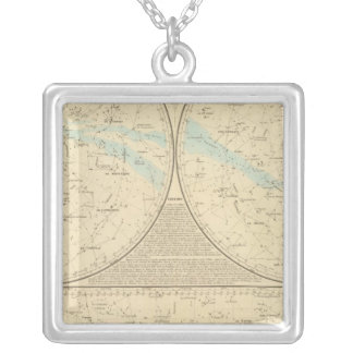 Fixed Stars map Square Pendant Necklace