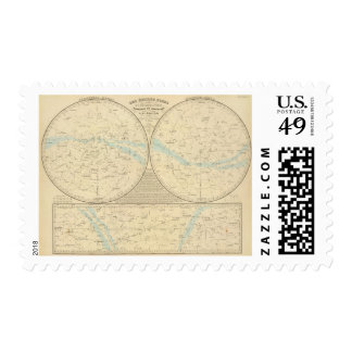 Fixed Stars map Stamp