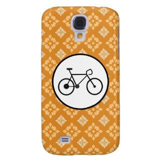 Fixie Bike Fixed Gear Bicycle on Orange Pattern HTC Vivid / Raider 4G Case