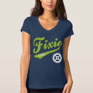 Fixie Girl, Bike design lime/white T-Shirt