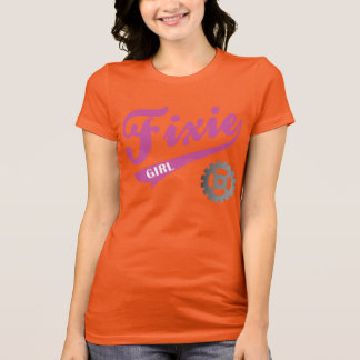 Fixie Girl, Bike design Pink/gray T-Shirt