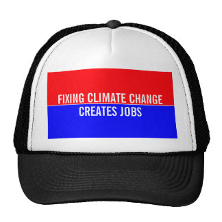 Fixing Climate Change Creates Jobs Mesh Hat